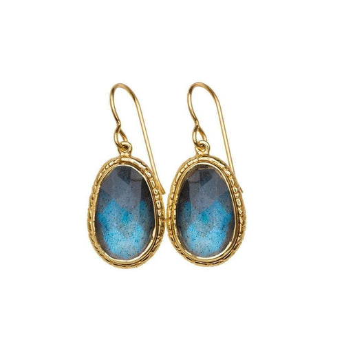 Blue Labradorite Earrings-Susan Wheeler Design-JewelStreet US
