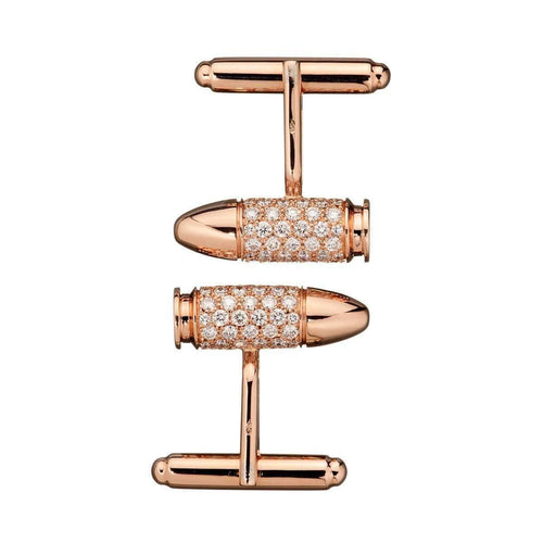 Bang Bang Rose Gold Diamond Cufflinks-AKILLIS-JewelStreet EU