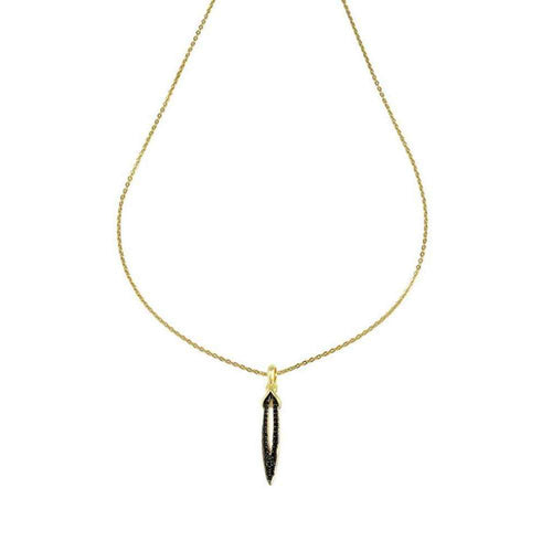 Empire Petite Pave Stiletto Pendant-REALM-JewelStreet US