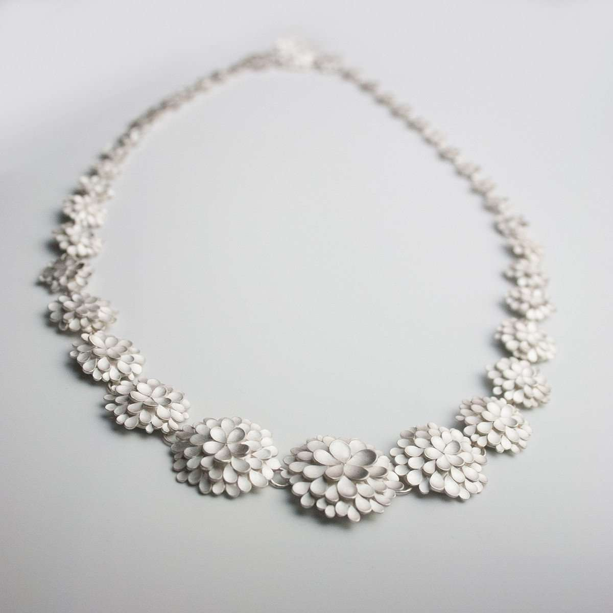 Dahlia Silver Necklace