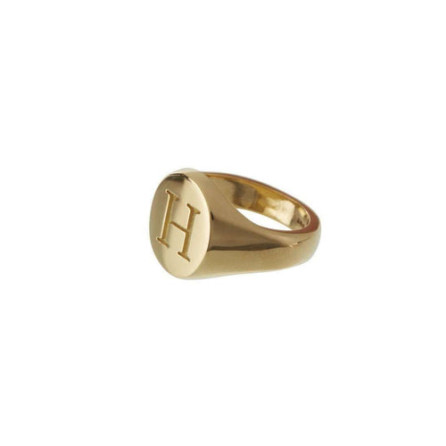 Customisable Oval 9kt Yellow Gold Signet-Sophie Breitmeyer-JewelStreet US