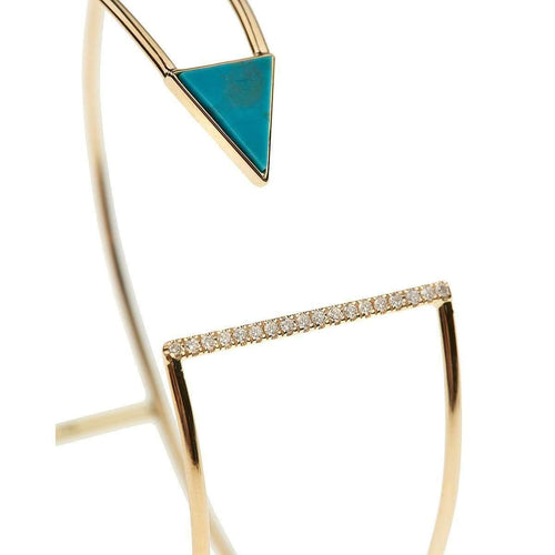 18kt Gold Diamond And Turquoise Bracelet
