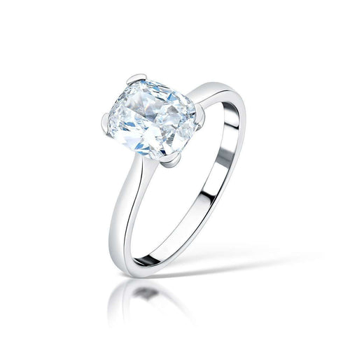 Cushion Cut Solitaire Engagement Ring-Clearwater Diamonds-JewelStreet US