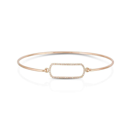 14kt Rose Gold Diamond Buckle Bangle-Marmalade Fine Jewellery-JewelStreet US