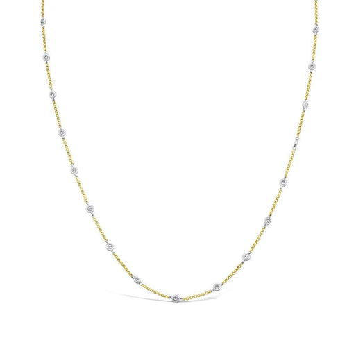 18kt Yellow And White Gold Diamond Chain-Marmalade Fine Jewellery-JewelStreet US
