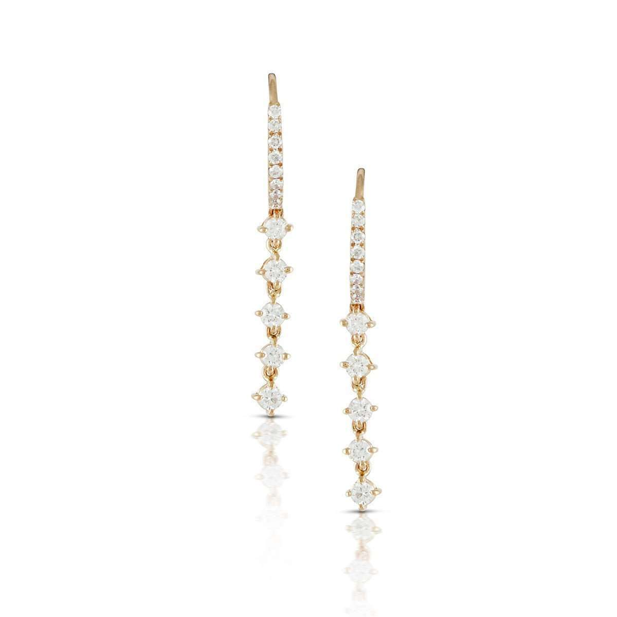 18kt Rose Gold Diamond Constellation Drop Earrings-Marmalade Fine Jewellery-JewelStreet US
