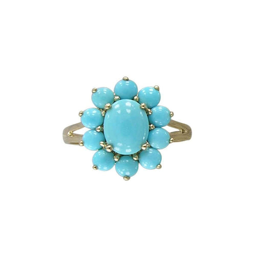 14kt Yellow Gold Turquoise Ring