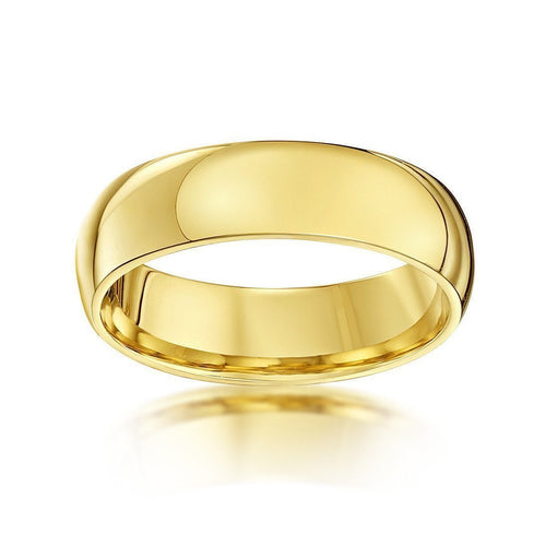 9kt Yellow Gold Heavy Court-Shape Wedding Ring (Available In Various Widths)-Rings-Star Wedding Rings-JewelStreet