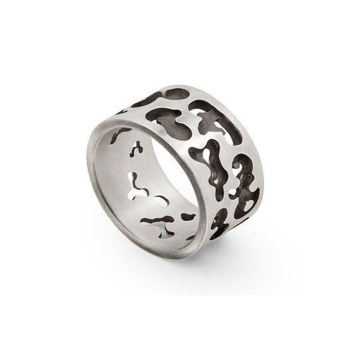 Sterling Silver Camouflage Ring | Snake Bones ,[product vendor],JewelStreet