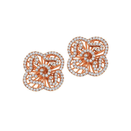 Cascade Mini Earring Studs In 18kt Rose Gold Plate-Earrings-Fei Liu-JewelStreet