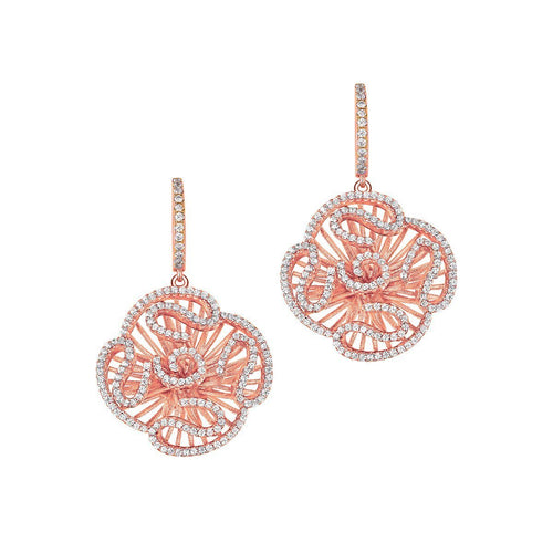 Cascade Stud Drop Earrings In 18kt Rose Gold-Earrings-Fei Liu-JewelStreet