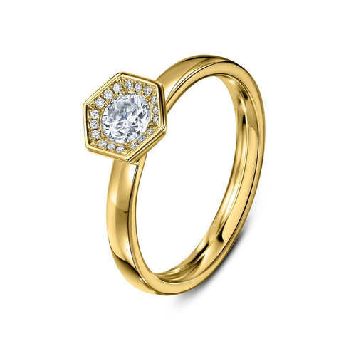 Chapiteau 33pt Yellow Gold Ring ,[product vendor],JewelStreet