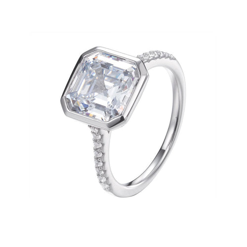 Chloe Asscher Cut Ring ,[product vendor],JewelStreet