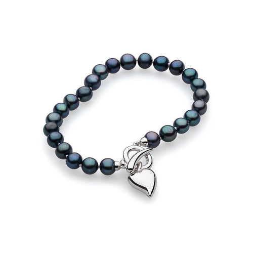 Desire Lustrous Peacock Pearl Toggle Bracelet ,[product vendor],JewelStreet