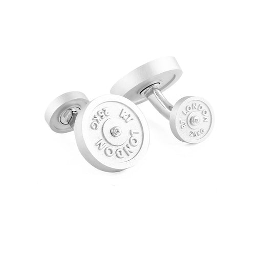 Free-weight Cufflinks In Rhodium Plating ,[product vendor],JewelStreet