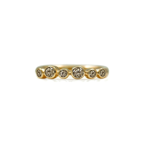 Halo Eternity Ring In Gold With Champagne Diamond ,[product vendor],JewelStreet