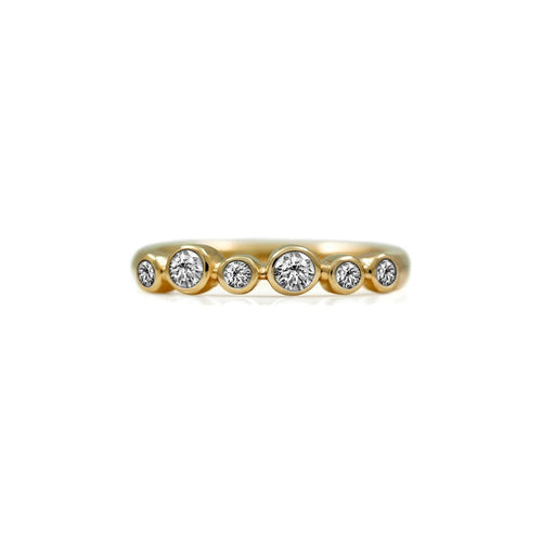 Halo Eternity Ring In Gold With White Diamond ,[product vendor],JewelStreet
