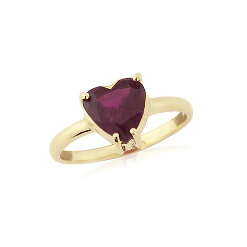 Heart Tourmaline 9kt Gold Ring-Rings-Krausz Jewellery-JewelStreet