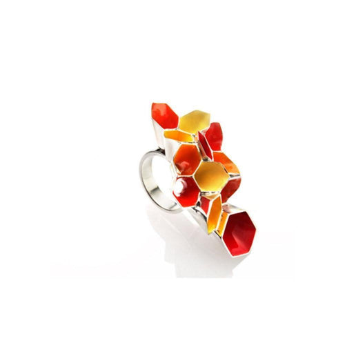 Honeycomb Dream Cocktail Ring-Rings-Alexandra Tosto Design-JewelStreet