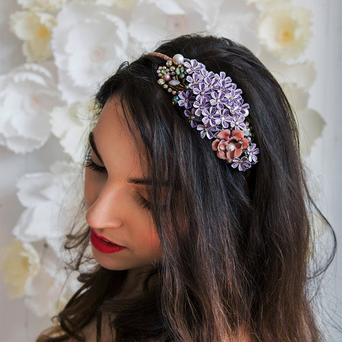 Lilac Headpiece-Headpieces-Krausz Jewellery-JewelStreet