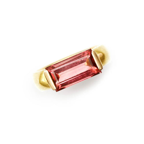 Limited Edition 18kt Gold Pink Tourmaline Ring ,[product vendor],JewelStreet
