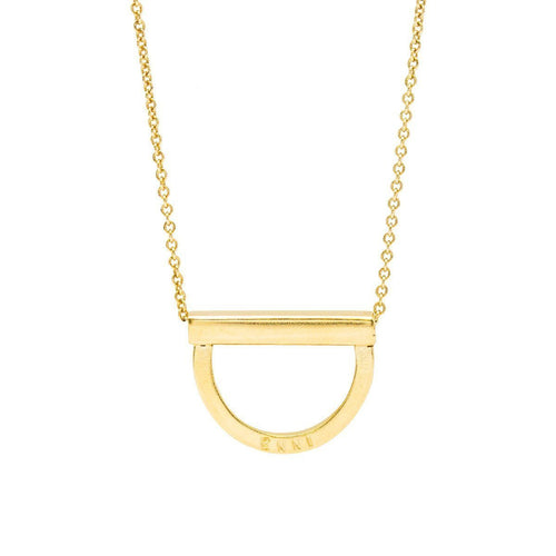 Personalised Curve Bar Stack Necklace Yellow Gold Plated ,[product vendor],JewelStreet