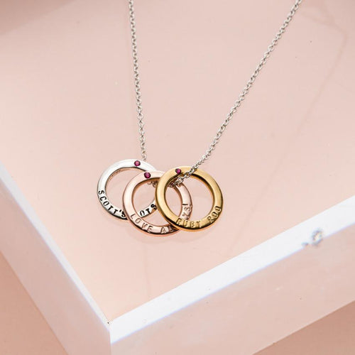 Personalised Precious Stone Mini Message Necklace Yellow Gold Plated ,[product vendor],JewelStreet