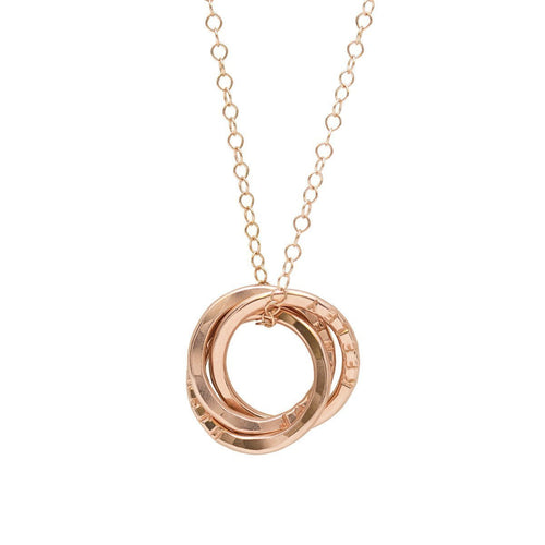 Personalised Russian Ring Necklace Rose Gold Plated ,[product vendor],JewelStreet