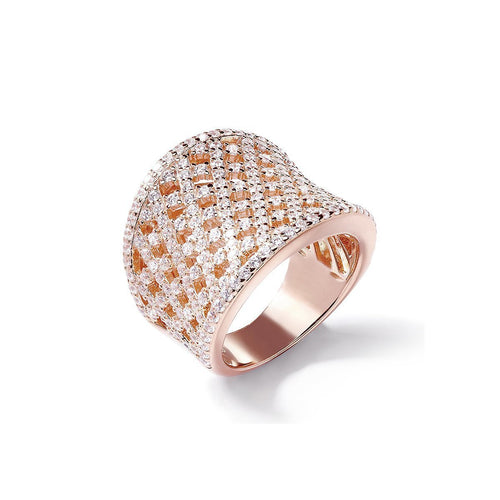 Rose Lattice Curve Ring ,[product vendor],JewelStreet