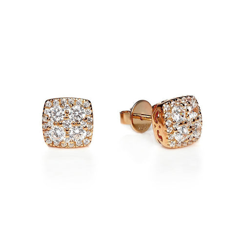 Rose Square Cluster Studs ,[product vendor],JewelStreet