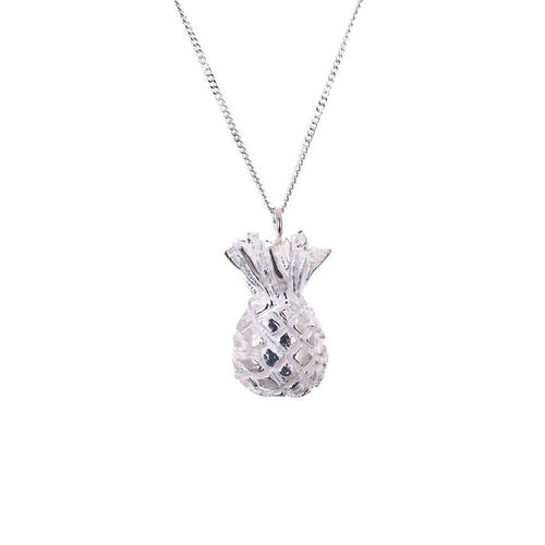 Silver Pineapple Necklace-Necklaces-Taylor Black-JewelStreet