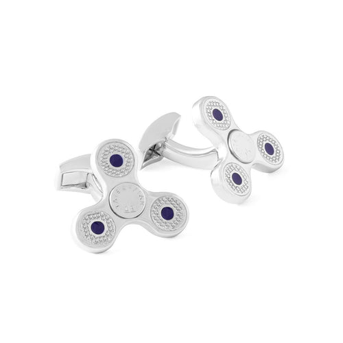Triptych Spin Rotating Cufflinks In Rhodium Plating ,[product vendor],JewelStreet