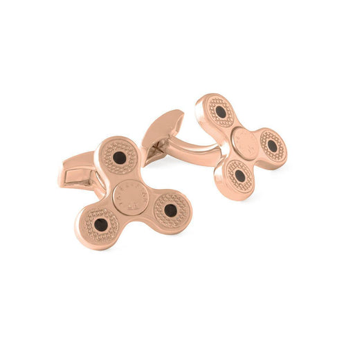 Triptych Spin Rotating Cufflinks In Rose Gold Plated ,[product vendor],JewelStreet
