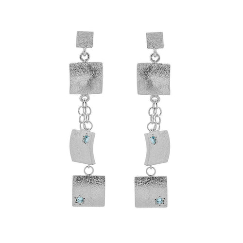 Veneto Drop Earrings with Blue Topaz ,[product vendor],JewelStreet