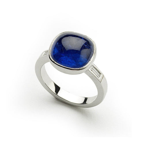 White Gold, Tanzanite and Diamond Ring ,[product vendor],JewelStreet