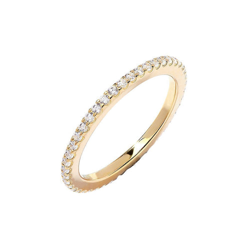 Yellow Oliva Eternity Ring-Rings-Lustre of London-JewelStreet