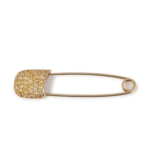 18kt Yellow Gold Safety Pin With Yellow Sapphires  ,[product vendor],JewelStreet