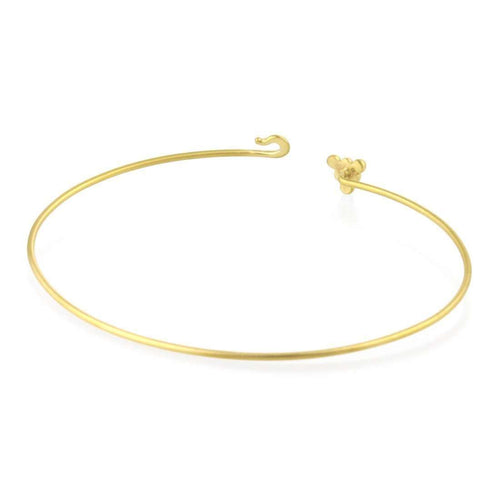 9kt Gold Sulis Bead Bangle-Prism Design-JewelStreet US