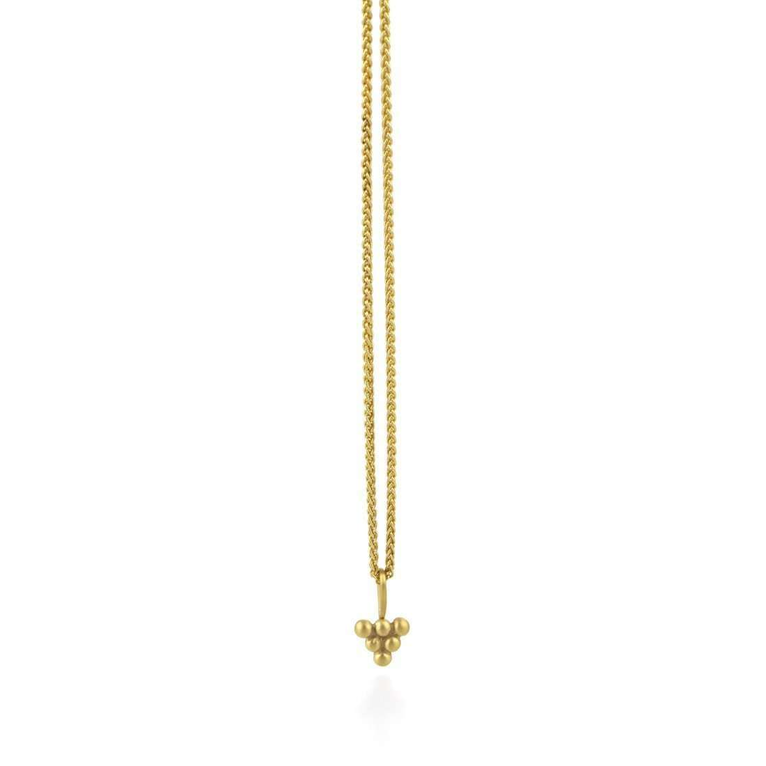 9kt Gold Sulis Small Bead Necklace-Prism Design-JewelStreet US