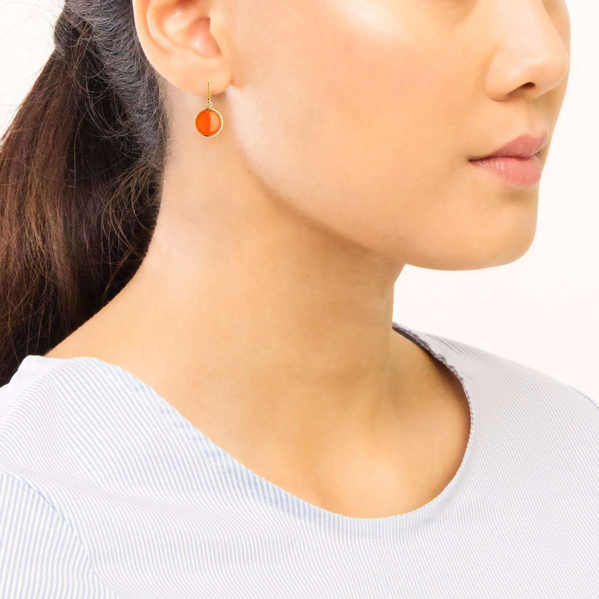 18kt Orange Chalcedony Chakra Earrings