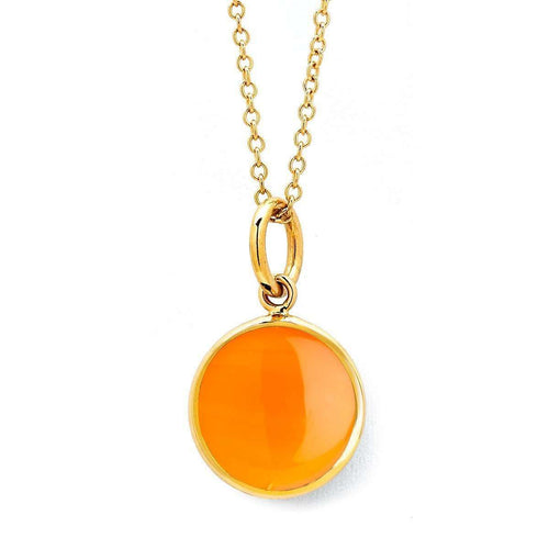 18kt Orange Chalcedony Chakra Necklace-Syna-JewelStreet US