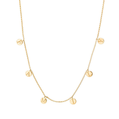 18kt Yellow Gold Family Necklace ,[product vendor],JewelStreet