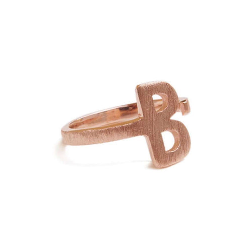 Alphabet - B Ring-ZLABA-JewelStreet US