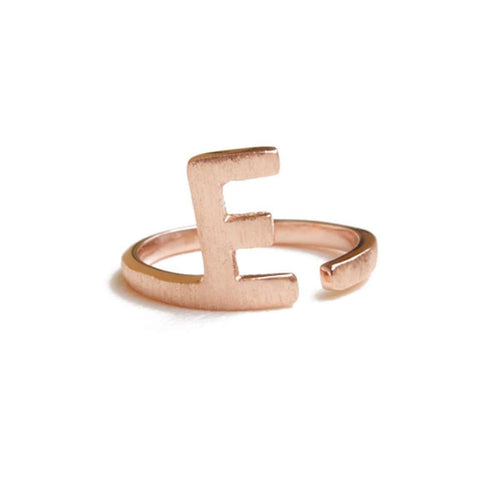 Alphabet - E Ring-ZLABA-JewelStreet US