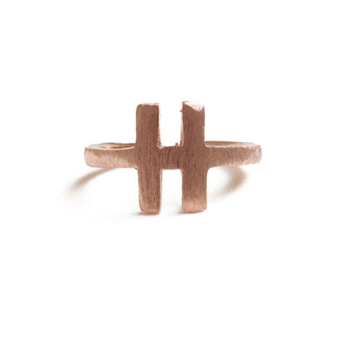Alphabet - H Ring-ZLABA-JewelStreet US
