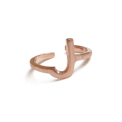 Alphabet - J Ring-ZLABA-JewelStreet US