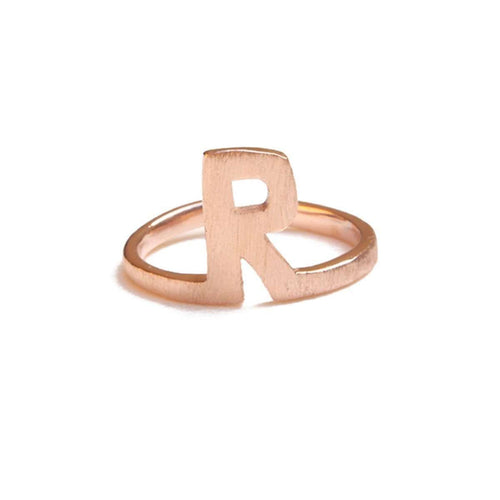 Alphabet - R Ring-ZLABA-JewelStreet US