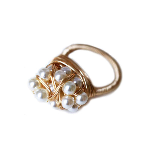 20 Pearl Wrap Ring-Brave Chick-JewelStreet US