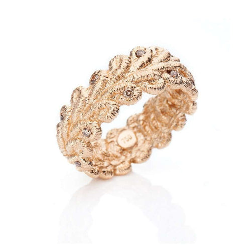 Bordure Rose Gold Ring With Diamonds-Brigitte Adolph Jewellery Design-JewelStreet US