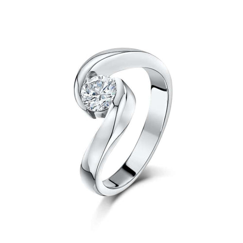 Palladium Diamond Engagement Ring-Becky Rowe-JewelStreet US